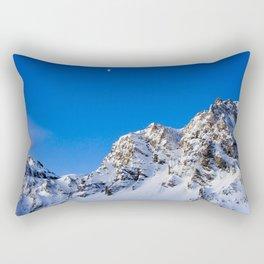 Beautiful Mountain with snow view Rectangular Pillow