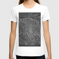 paris map T-shirts featuring Paris map by Le petit Archiviste