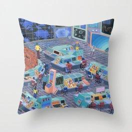 Command Center Throw Pillow