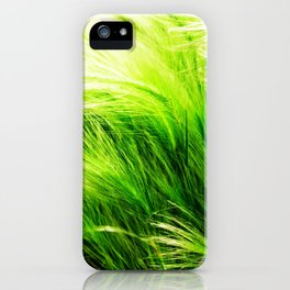 Green Swaying Grass in Summer Breeze iPhone Case