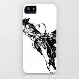 Black dog (Kuro-inu) iPhone Case