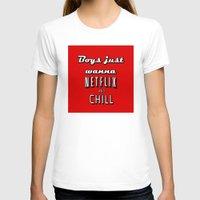 netflix T-shirts featuring Netflix Chill  by Rassva