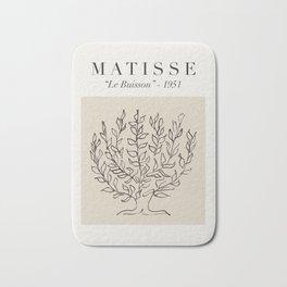 "Matisse - ""Le Buisson"", Mid Century Abstract Art Decor Bath Mat"