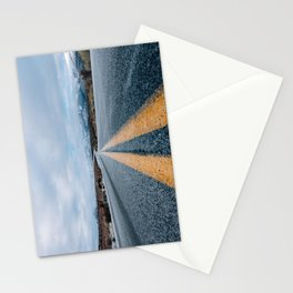 Yellow road mountain Stationery Cards