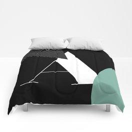 Serif - A - black Comforters