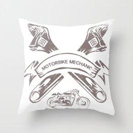 Motorbike Mechanic Gift Throw Pillow