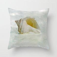 White Seashell Throw Pillow