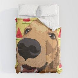 Golden Retriever Dog-Watermelon Comforters