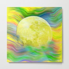 MOON VISIONS AT SEA OIL PAINTING Metal Print