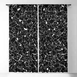 Chess Pattern BLACK Blackout Curtain