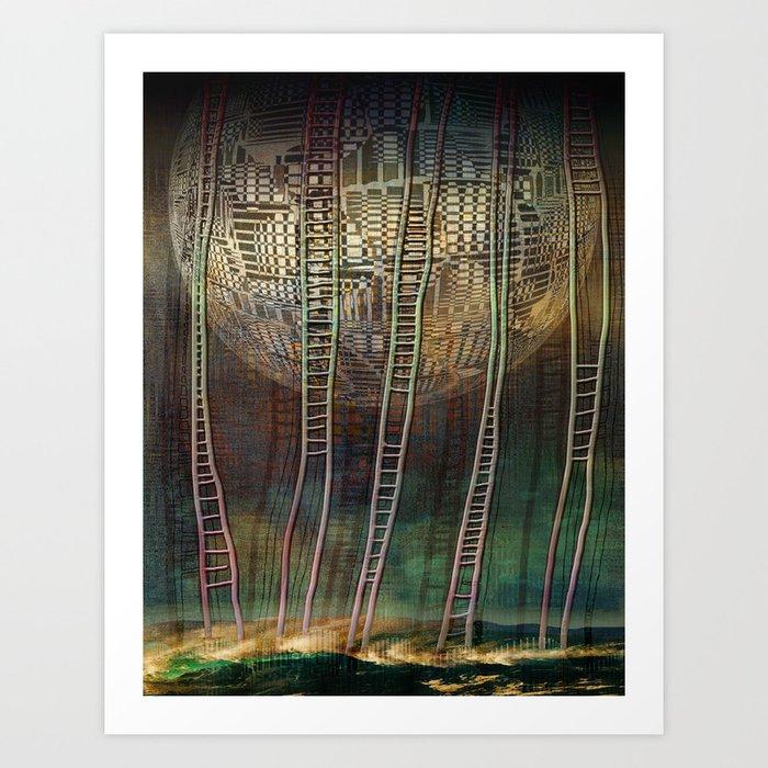 Atlante 13-06-16 / STAIRS Art Print