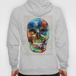 Colorful Skull Art - Aye Candy - By Sharon Cummings Hoody