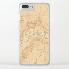 Vintage Map of Yosemite Valley (1907) Clear iPhone Case