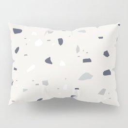 Midnight Navy Gray Creme Terrazzo #1 #decor #art #society6 Pillow Sham