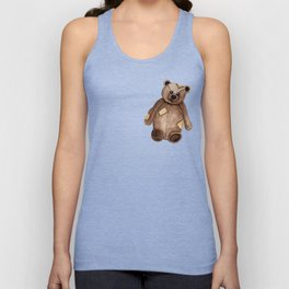 Patches the Teddy Unisex Tank Top