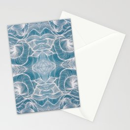 Ocean Lines Multiplied Stationery Cards