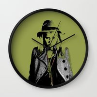 grumpy Wall Clocks featuring Grumpy  by OhShizz