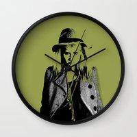 grumpy Wall Clocks featuring Grumpy  by OhShizz