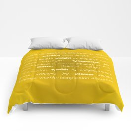 Fun With Colour & Words - Gold Comforters