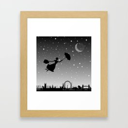 magical mary poppins Over London Framed Art Print