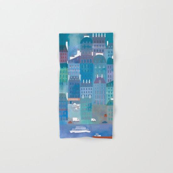 Paris Blues Hand & Bath Towel