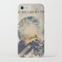 david iPhone & iPod Cases featuring One mountain at a time by HappyMelvin