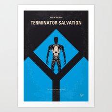 No802-4 My The Terminator 4 minimal movie poster Art Print