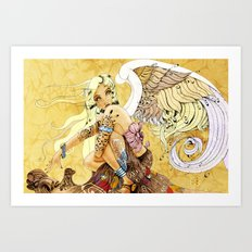 Tattooed Angel Art Print
