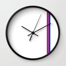 Gay Pride LGBT Subtle Bisexual Bi Rainbow Stripe Wall Clock