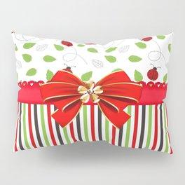 Flourishing Ladybugs Colorful Strips Pillow Sham