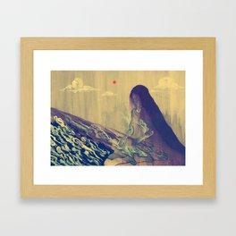 Dormant God Framed Art Print