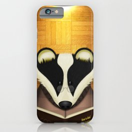 Badger Reading iPhone Case