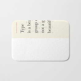 Typography Anatomy Bath Mat