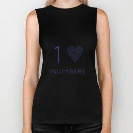 I heart Numbers Biker Tank