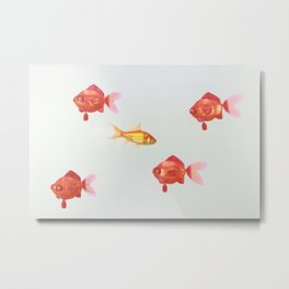 realistic against the current Metal Print