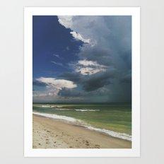 A Stormy Beach Art Print
