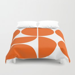Mid Century Modern Orange Square Duvet Cover