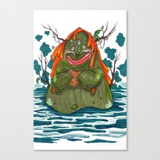Cookie Swamp Monster Canvas Print