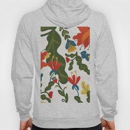 Tropical Flower Pattern Hoody