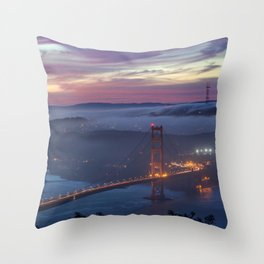 Morning Colors of SF Throw Pillow