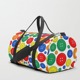 colorful scattered buttons Duffle Bag