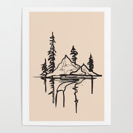 Abstract Landscpe Poster