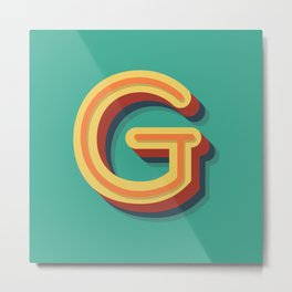 The Letter G Metal Print