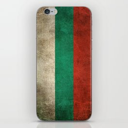 Old and Worn Distressed Vintage Flag of Bulgaria iPhone Skin