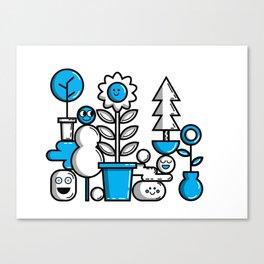 Garden in Blue Canvas Print