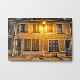 french houses at night Metal Print