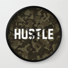 Hustle - camouflage version Wall Clock