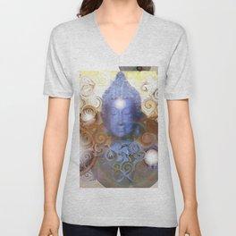 Transcendental meditation of Buddha at Home Unisex V-Neck