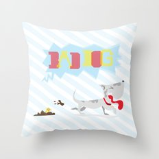 poo've got mail Throw Pillow
