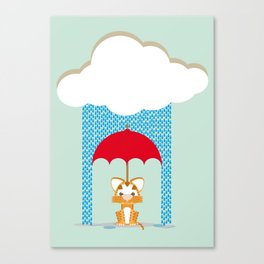 Tiger Don't like rain (2015 version) Canvas Print